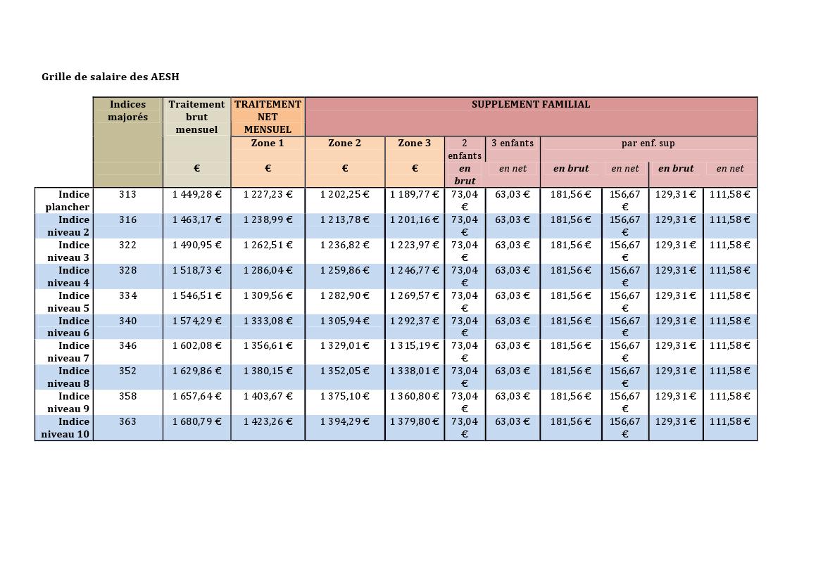 Grille de salaire assistante de vie - Grille remuneration fonction publique ...